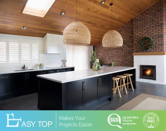 European Modern Design PVC Shaker Black Kitchen Cabinet Manufacturer