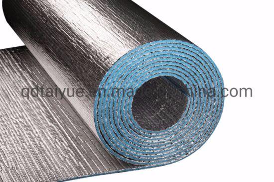 Air Cell Bubble Foil Insulation PE Bubble Aluminum Foil Heat Insulation