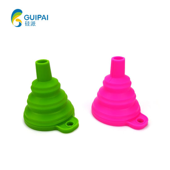 Silicone Rubber Mini Kitchen Collapsible Foldable Funnel for Oil Liquid