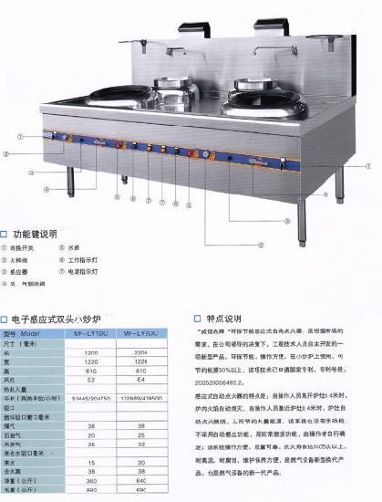 Commercial Chinese Cooking Range with Environment Gas Heating for Hotel and Restaurant Equipment