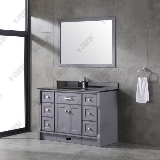 Dark Grey Modern Style Bathroom Vanity