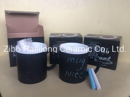11oz Ceramic Blackboard Mug with Chalk