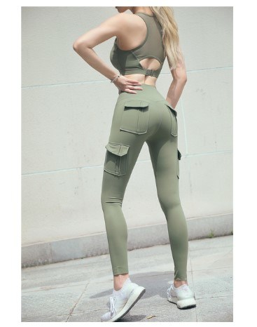 2 Pieces Gym Track Suits Women Workout Clothes Set Sport Bra and Pants Clothing Fitness Leggings Apparel Gym Fashion Wear