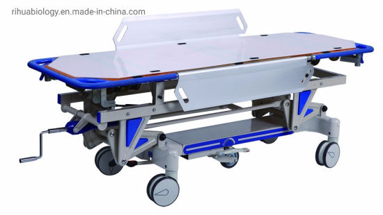Rh-D002 Hospital Luxrious Hydraulic Rise and Fall Stretcher Cart