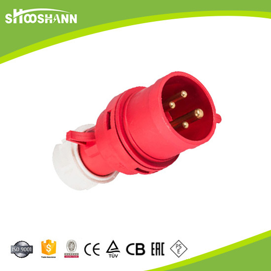 6A 3 Pin Plug Top IP44 250V 013 Male and Female Industrial Plug and Socket
