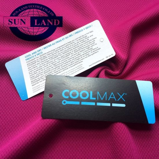 Coolmax Moisture Wicking Quick Dry Birdeye Polyester Mesh Breathable Sports Fabric