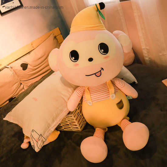Custom Plush Animal Stuffed Toy Banana Monkey