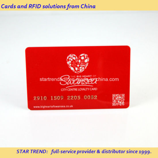 Fully Printed PVC Card with Gold/Silver Embossing Number pictures & photos