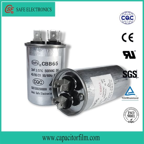 Cbb65 AC Motor Aluminum Case Capacitor for Air Condition
