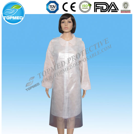 Waterproof Disposable Medical PE Apron pictures & photos
