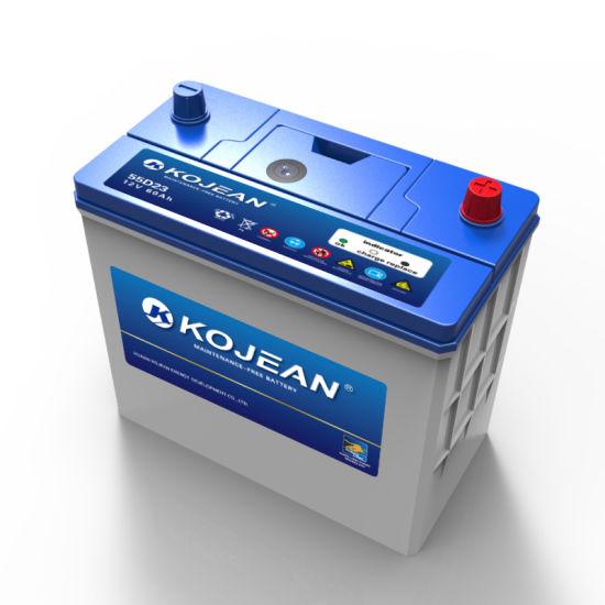 Factory SMF 55D23 12V 60ah Maintenance Free Lead Acid Car Battery