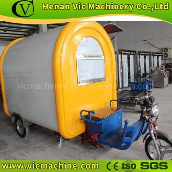 Electric motor mobile food cart