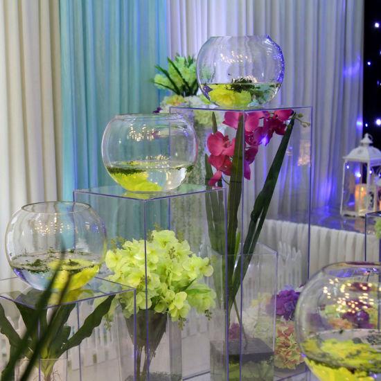 China Clear Acrylic Home Decoration Vase Flower Vase China Plastic