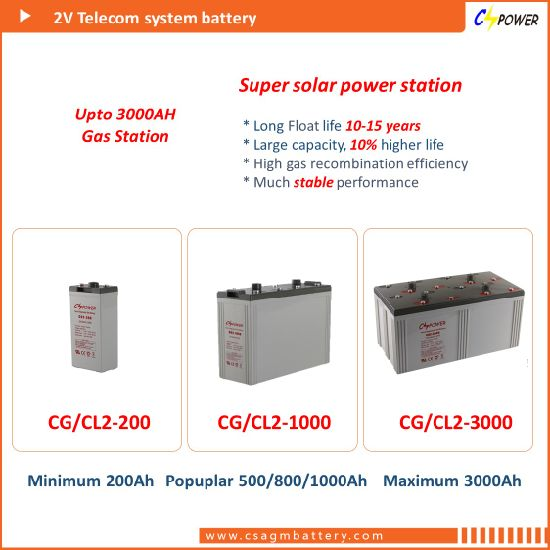 China Factory 2V2500ah Power Storage Gel Battery - Gas Station UL pictures & photos