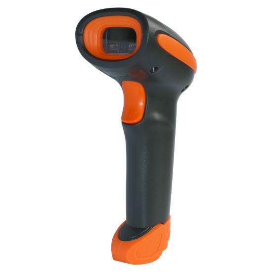 Jepower 2102 3208 Wireless Handheld 1d 2D Laser Barcode Scanner for Warehouse Supermaket Inventory