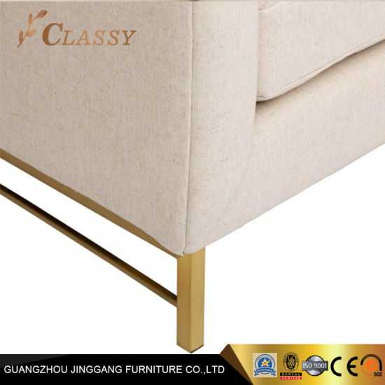 Living Room Furniture Couch Custom Sofa with Brushed Gold Legs