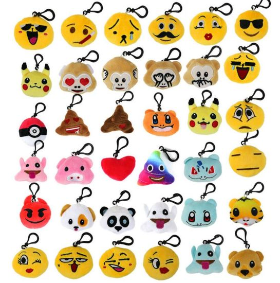 Mini Emoji Animal Plush Keychain for Backpack pictures & photos
