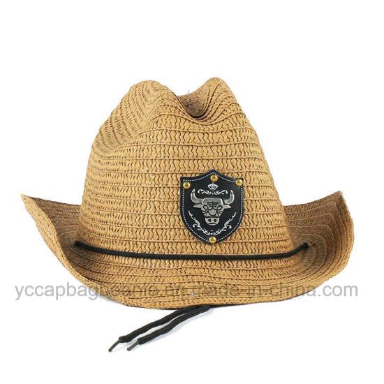Fashion Cheap Wholesale Men Hats Paper Cowboy Straw Hat