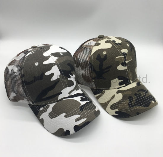 High Quality Fashion Camouflage Mesh Baseball Trucker Caps Sports Hats