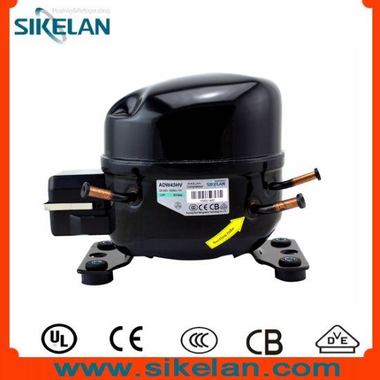 High Efficiency Freezer Refrigerator Compressor, Model Adw43hv, Ms Series, R134A, 220V, Lbp, 1/6HP