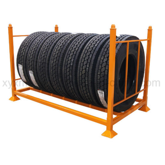 Stackable and Collapsible Storage Stacking Steel Tire Rack Tyre Stillages