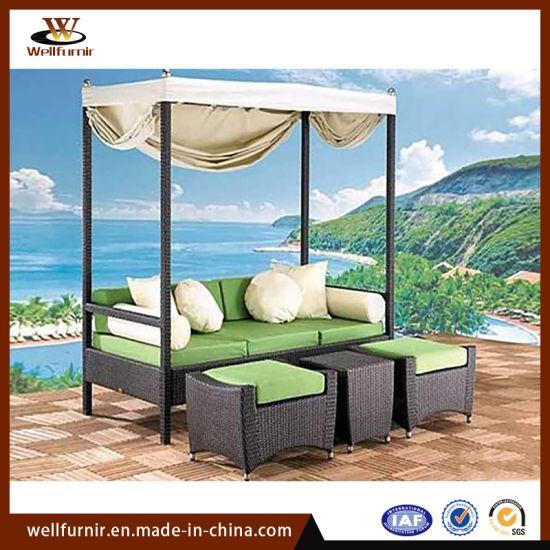 Creative Leisure Villa Garden Rattan Art Outdoor Furniture Hotel Resort Sea View Room (WF-378)