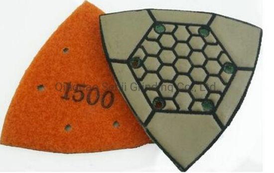 Triangle Type Dry Diamond Polishing Pad for Granite/Marble/Concrete