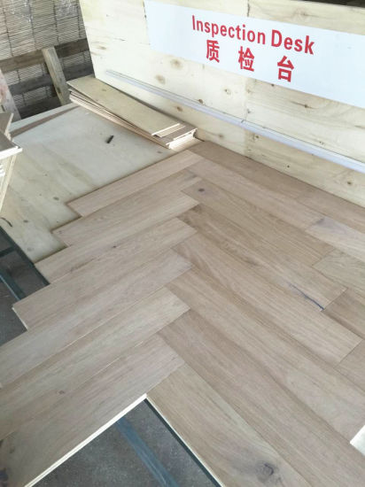 China Natural Oak Herringbone Parquet Wood Flooring China Oak