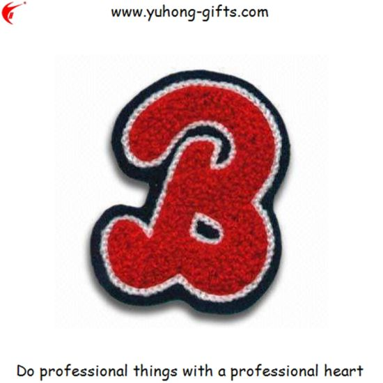 China Oem Letter Embroidery Badge Emblem For Cloth Yh2023 China