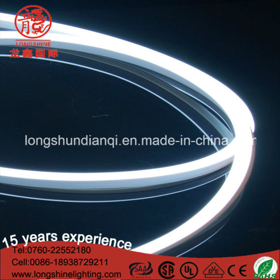 LED White Single Side D Shape 6mm LED Neon Flex Light Strip for Christmas Decoration pictures & photos