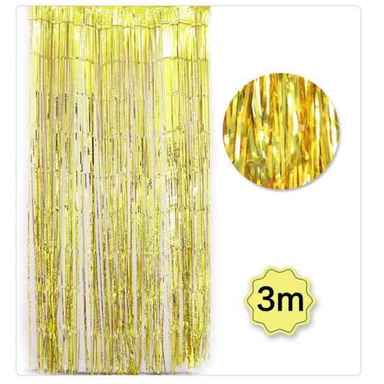 Halloween Wedding Party Decoration Shimmer Foil Glitter Tinsel Metallic Backdrop