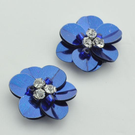3D Sequins Flower Beaded Patch Beaded Embelisshment for Garments