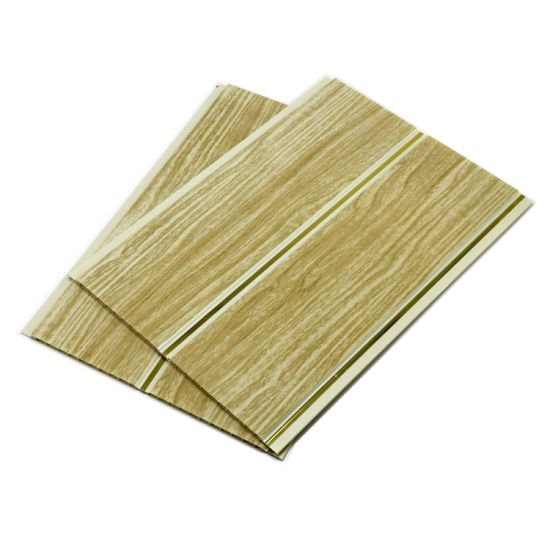 China 25cm Wooden Color Waterproof Interior Faux Wall Tile