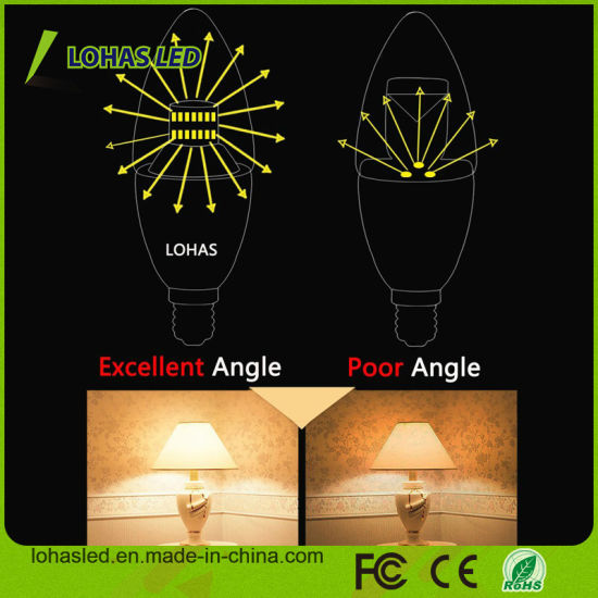 E12 E14 3W 5W 6W 7W 8W Candelabra LED Candle Bulb Light with Ce RoHS UL pictures & photos