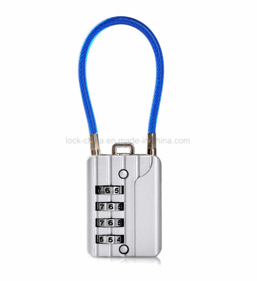 Sepox Resettable Combination Travel Lock, 4 Digit Cable Lock for Suitcase pictures & photos