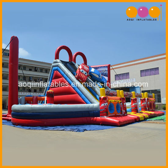 Aoqi Inflatable Fun City Racing Car Inflatable Slide for Sale (AQ1364) pictures & photos