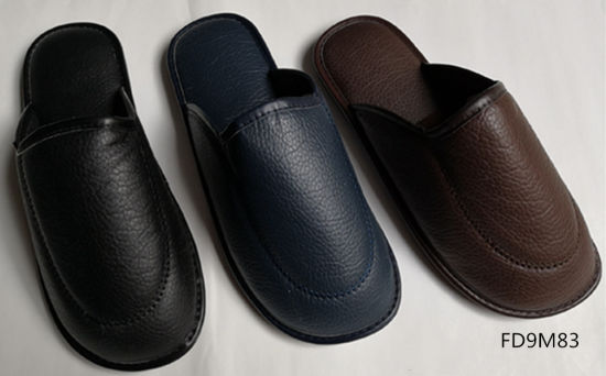 Various Kinds of Textile or PU Upper Indoor Slippers for Mens