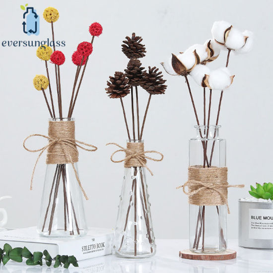 Wholesale Custom Fancy Clear Design Flower Glass Vase for Home Decoration pictures & photos