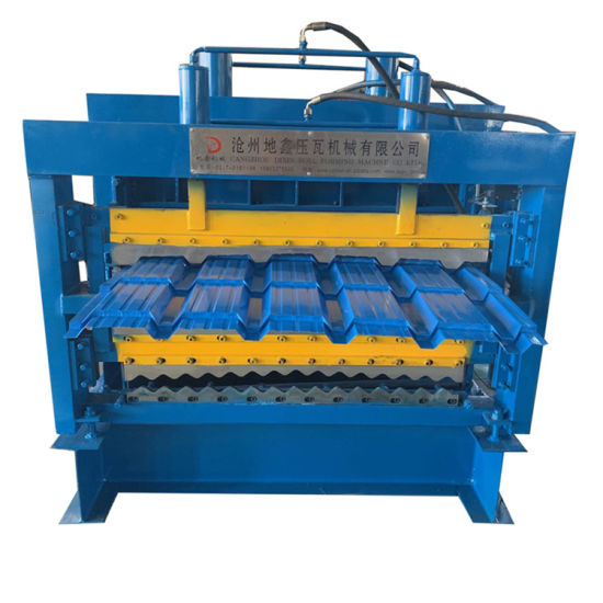New Popular Three Tier Layer Roofing Sheet Making Different Color Metal Steel Products Roof Tile Cold Roll Forming Making Machine with High Speed