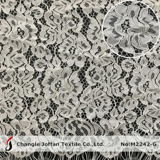 Knitting Fabric Lace Cord Scalloped Lace Fabric Dress Lace Wholesale (M2242-G) pictures & photos