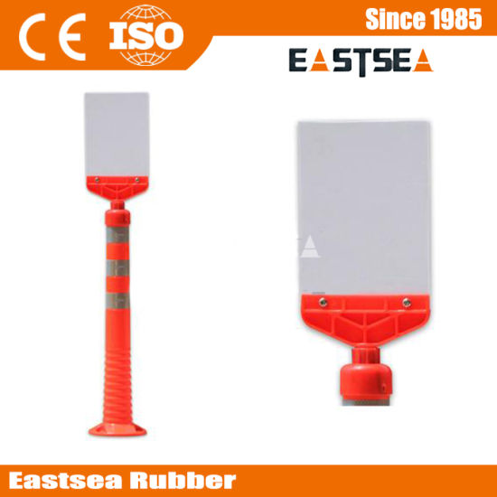 Plastic Assemble Flexible Post Warning Signal Board for Traffic Safety pictures & photos
