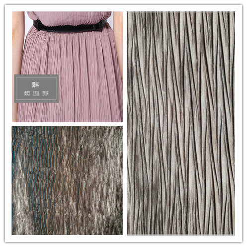 100%Polyester, Satin Crepe Fabric for Women's Dress and Clothes