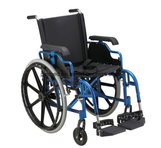 Hot Sale Aluminum Alloy Manual Wheelchair pictures & photos