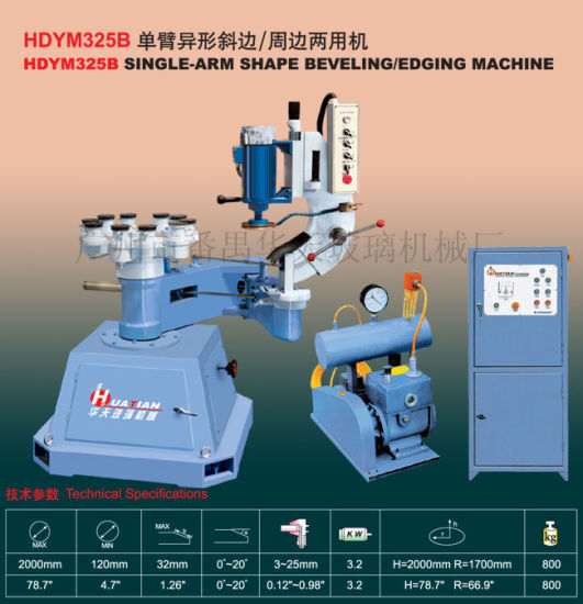Single Arm Manual Glass Shape Edging Machine