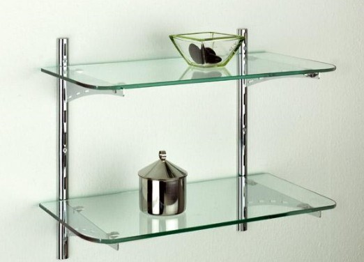 Clear Toughened Shower Shelf Glass pictures & photos
