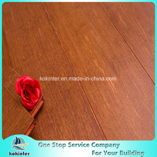 Chinese High Quality Strand Woven Bamboo Flooring (Red Orange color) Indoor Usage with Cheap Price