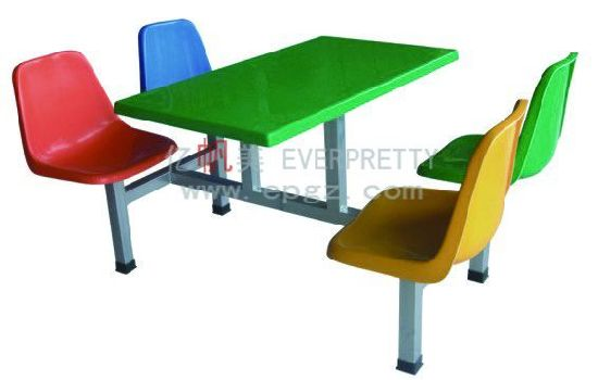 Canteen Furniture 4 Seater Dining Table And Chair For Sale