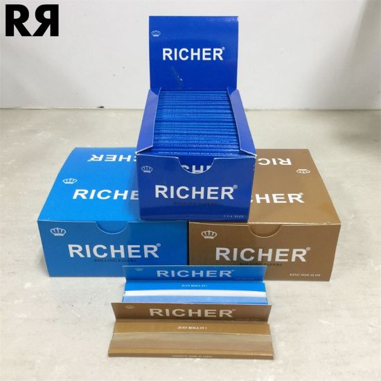 China Richer Best Sell 20GSM Wood Cigarette Rolling Paper