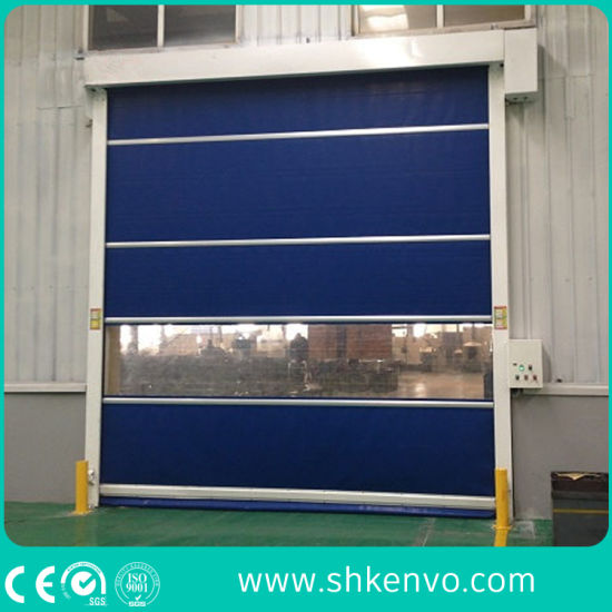Industrial Automatic Overhead Soft PVC Fabric Rapid Rise Rolling up Doors for Clean Rooms