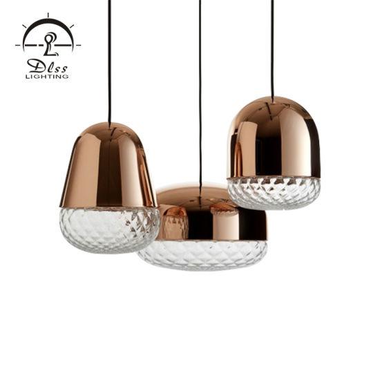 Copper Color Glass Material Pendant Lamp for Wholesale